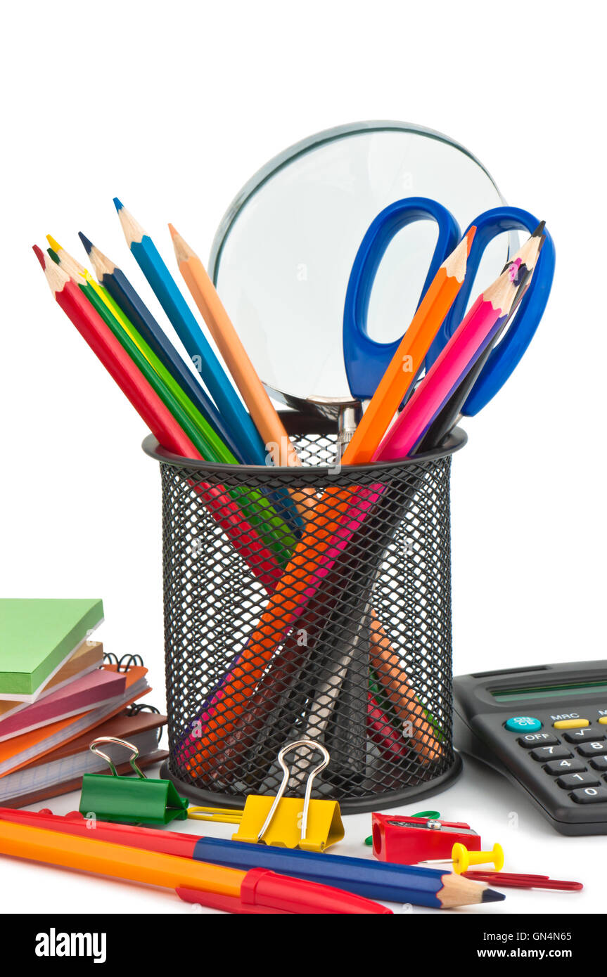 Stationary appliances for office, school and home. - Stock Image