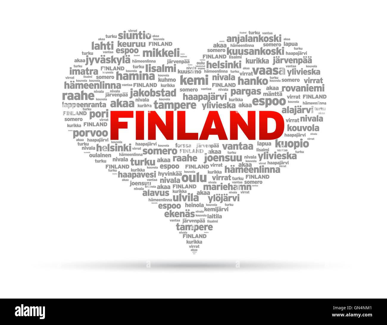 I Love Finland - Stock Image