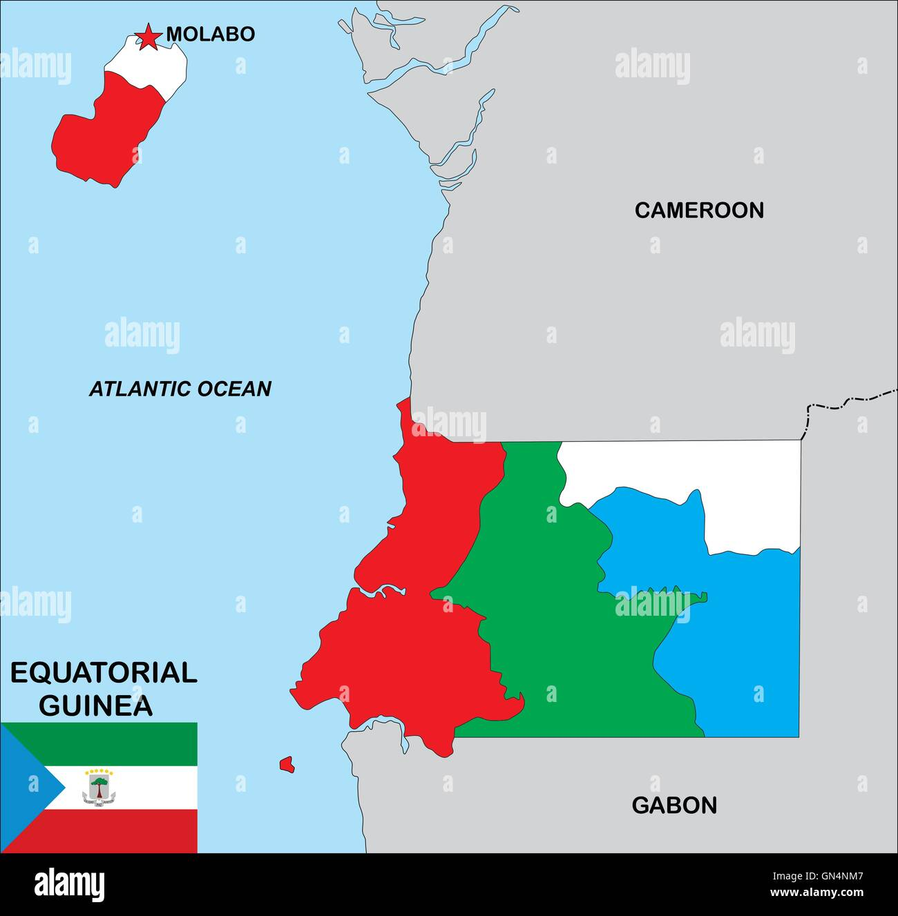 Equatorial Guinea Map Stock Photos & Equatorial Guinea Map Stock ...