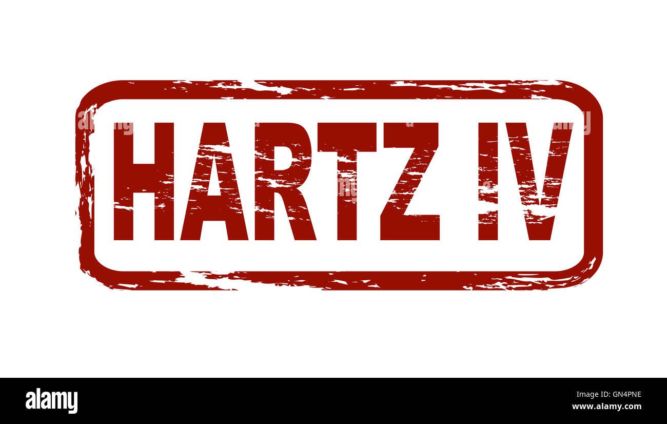 Stamp - Hartz IV - Stock Image