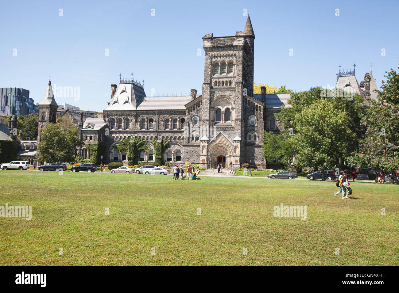 TORONTO - AUGUST 8, 2016: The University of Toronto is a public research university in Toronto, Ontario, Canada, Stock Photo