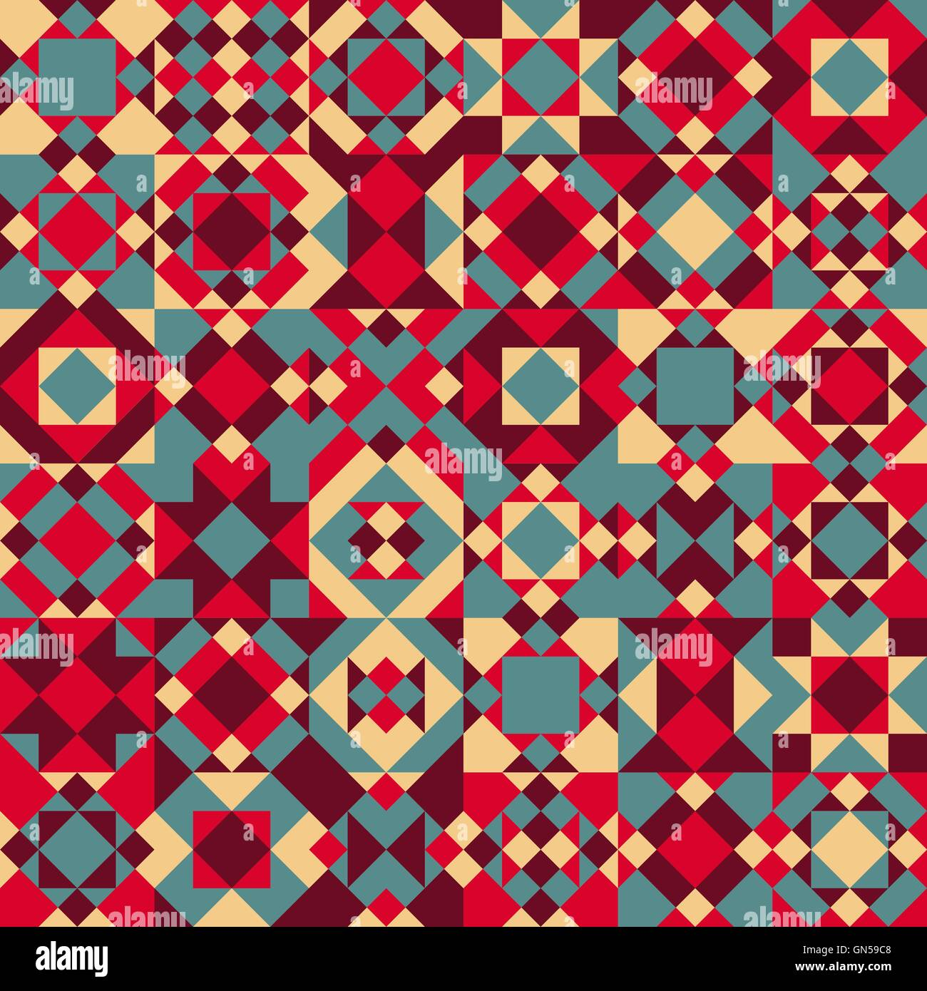 vector seamless blue red color overlay irregular geometric blocks