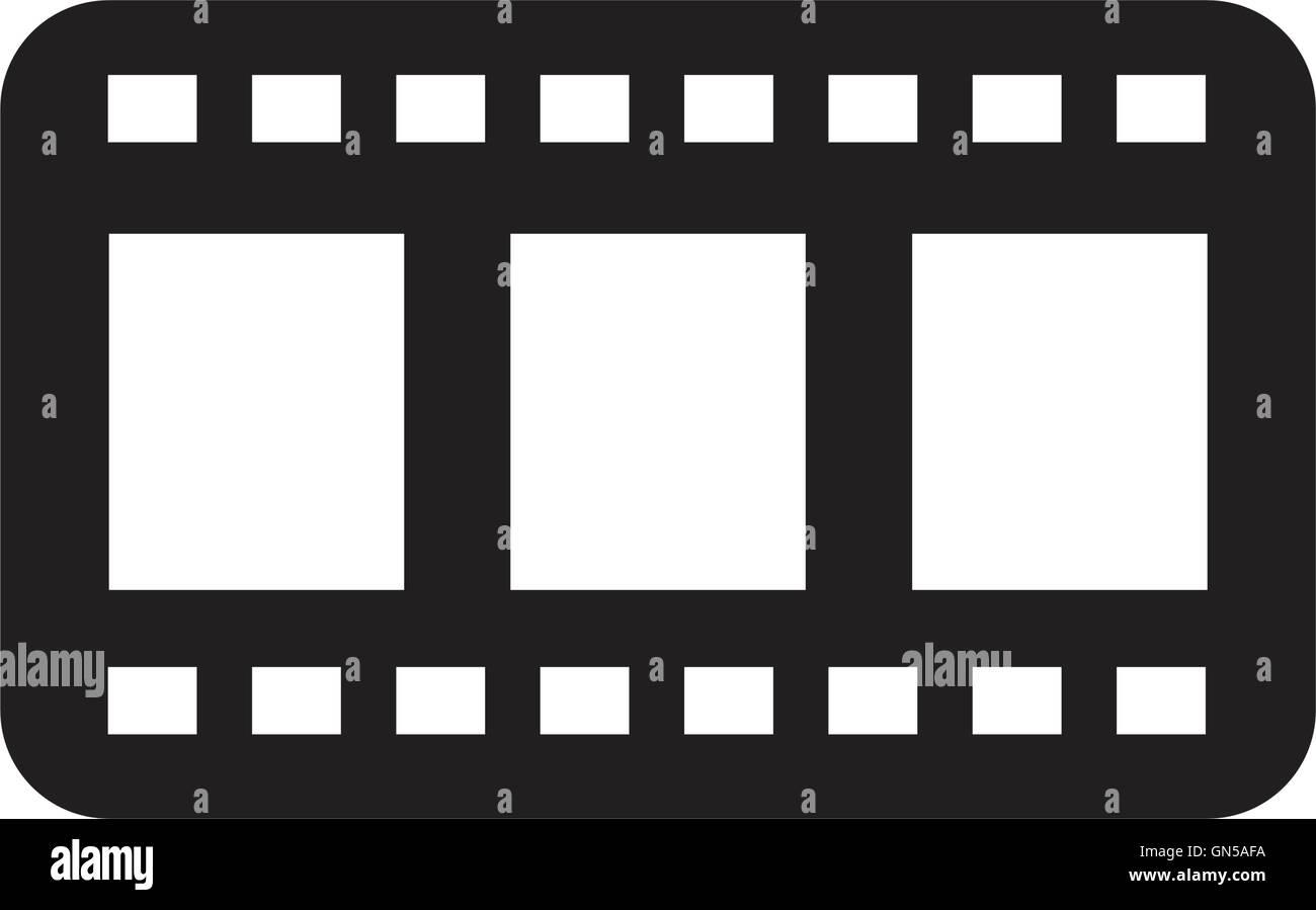 Film icons - Stock Image