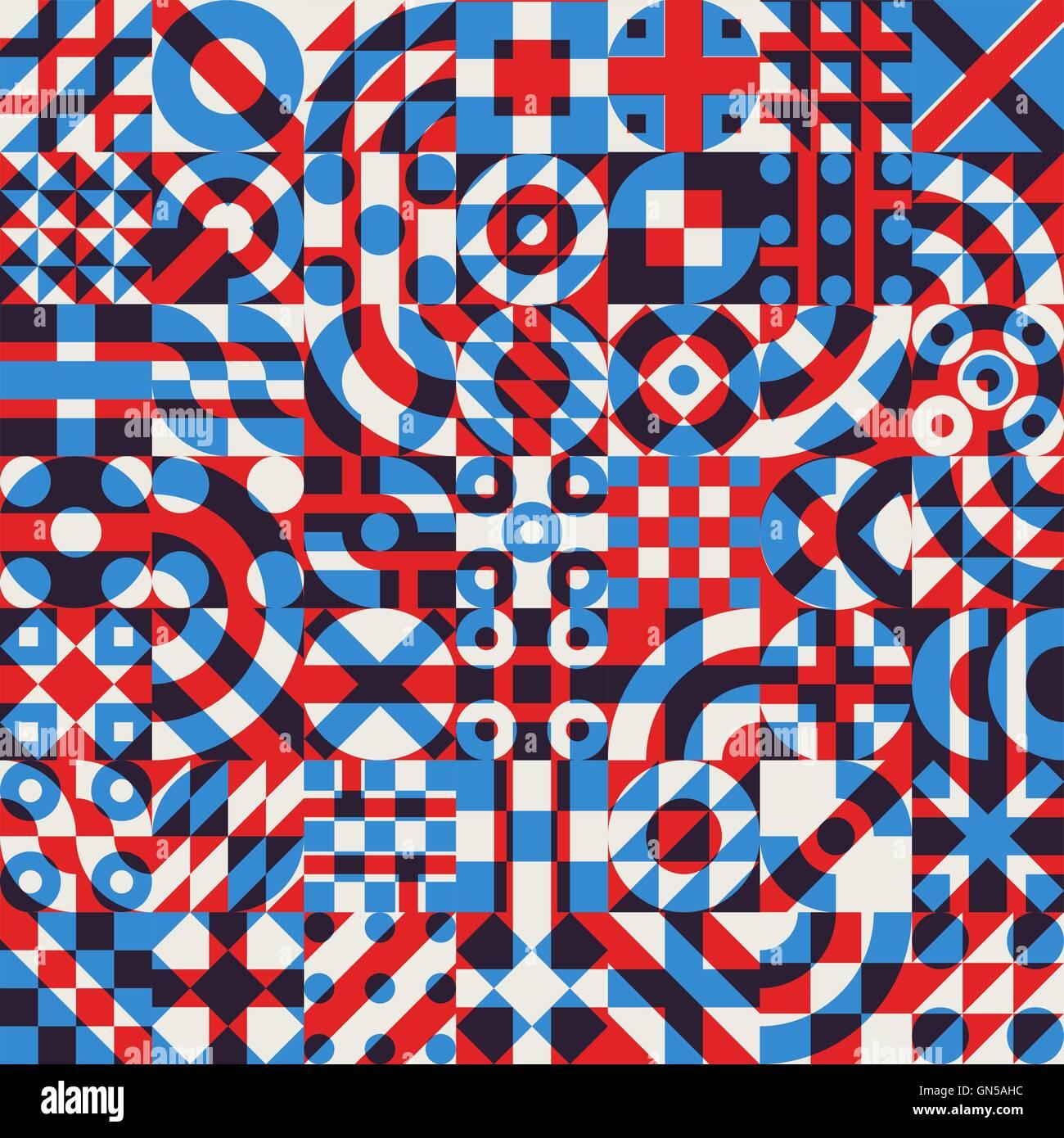 vector seamless blue red white color overlay irregular geometric