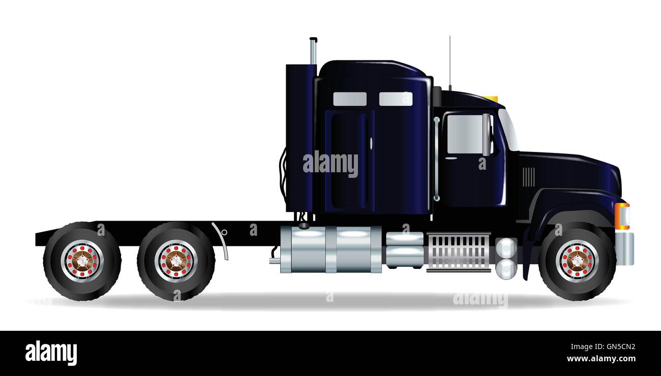 Truck Tractor Unit - Stock Vector