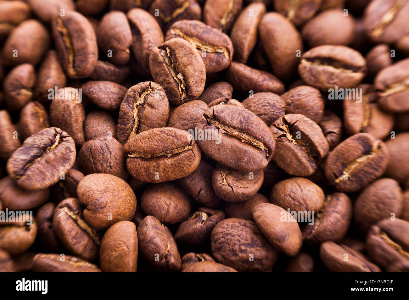 coffee beans closeup - Stock Image