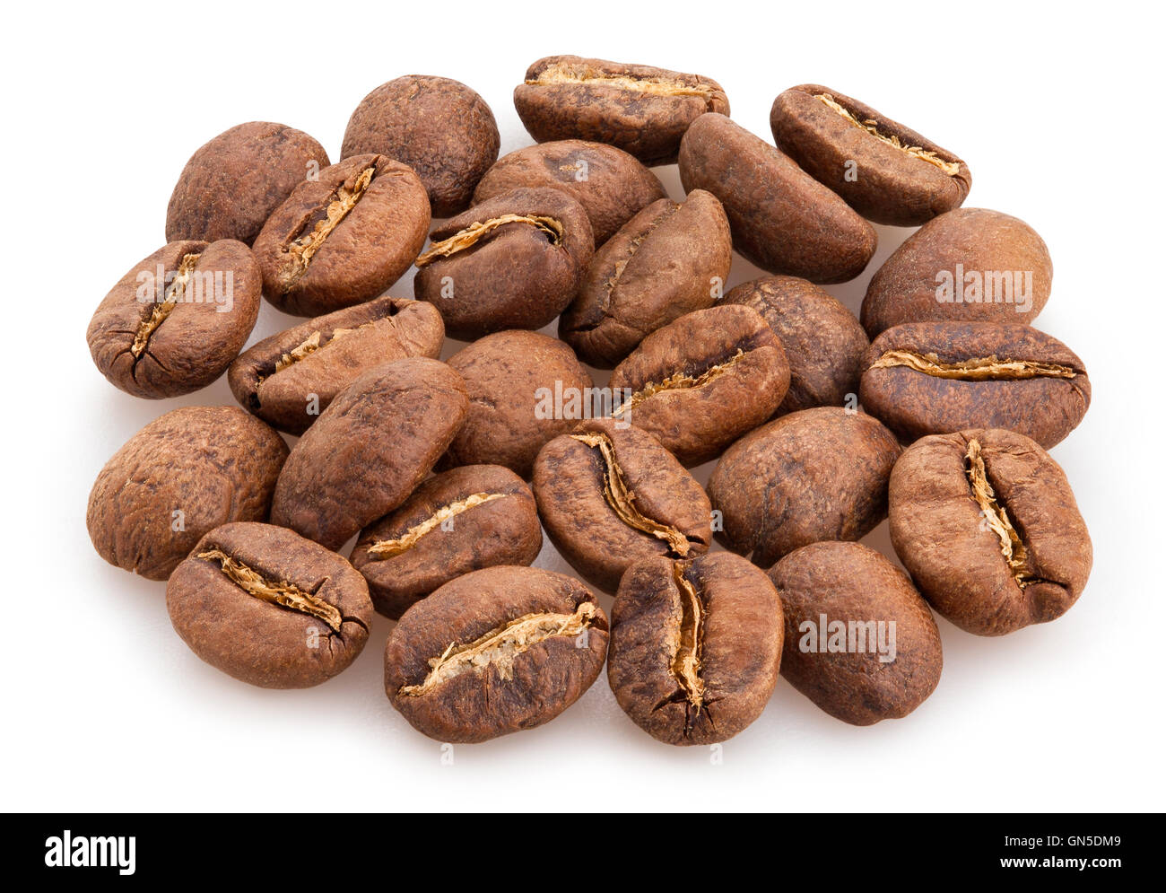 coffee beans isolated - Stock Image