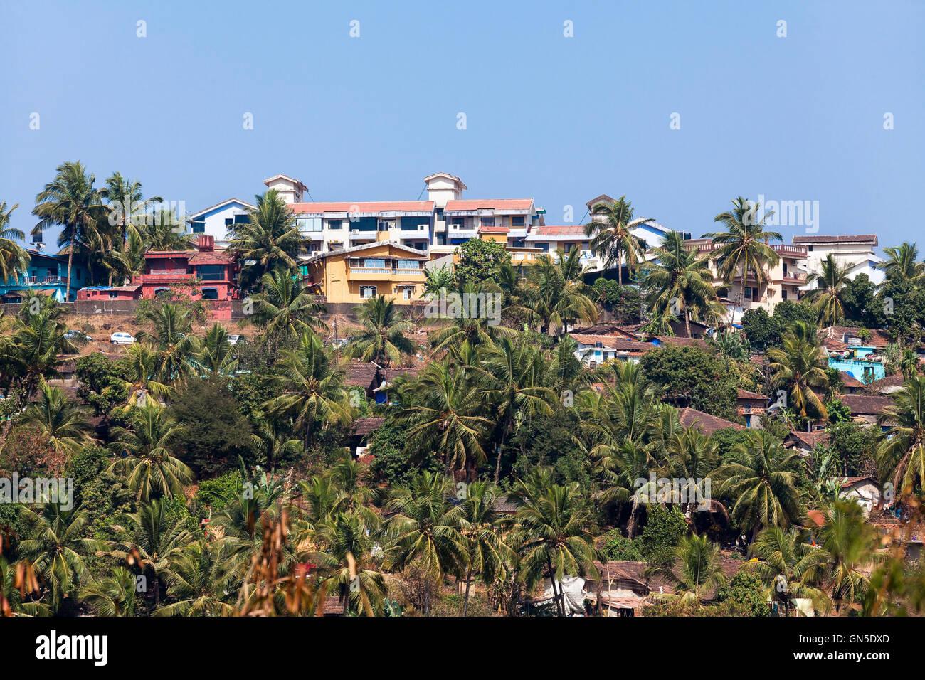 mapusa goa india aerial landscape - Stock Image