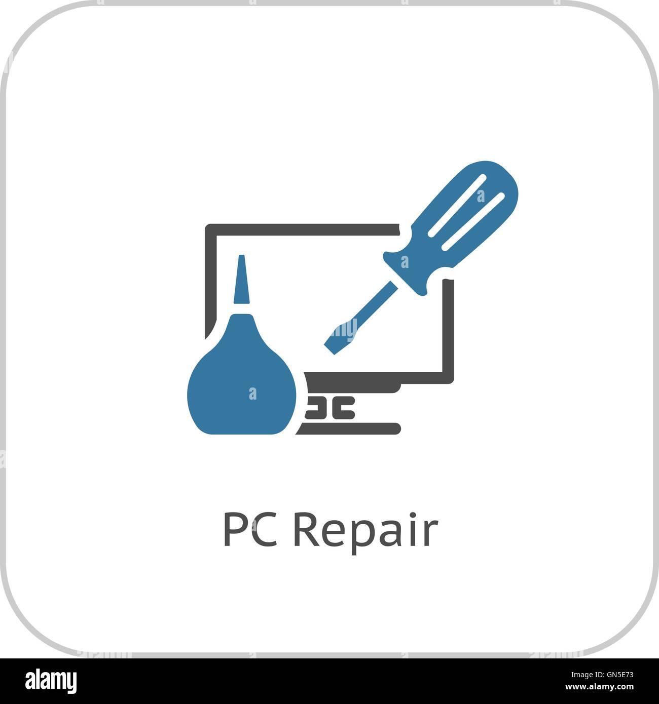 Gadget Repair Icon. Flat Design. - Stock Image