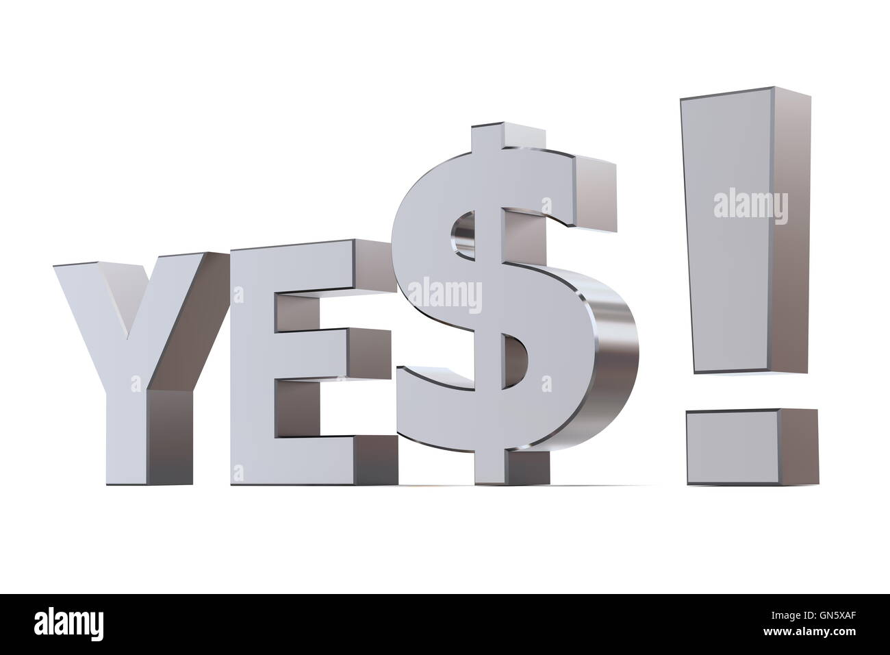 Yes to the Dollar - Stock Image