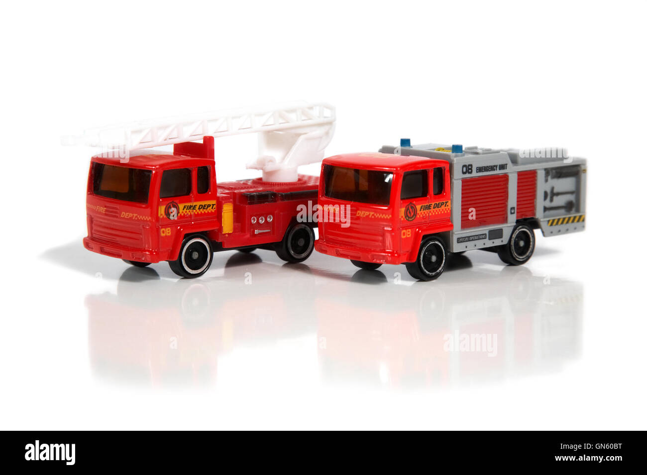 model vehicles of firefighters - Stock Image