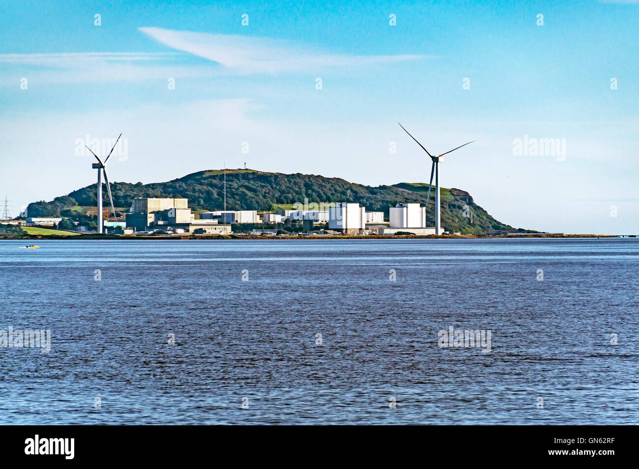 Hunderston Nuclear Power Station near Largs in North Ayrshire Scotland seen from the Firth of Forth - Stock Image