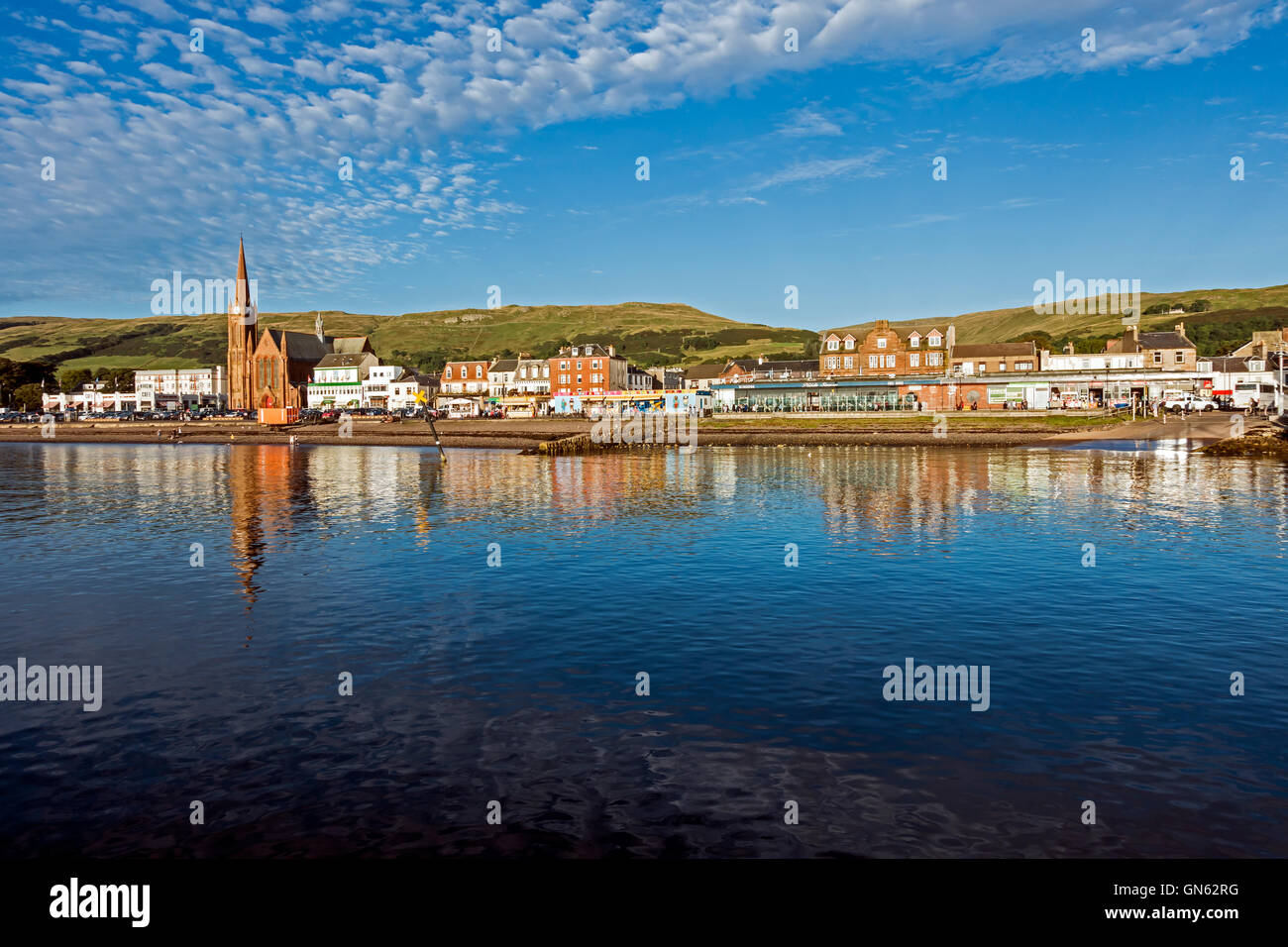 The seafront in Largs North Ayrshire Scotland - Stock Image
