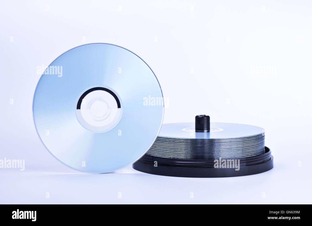 stack of printable discs - Stock Image