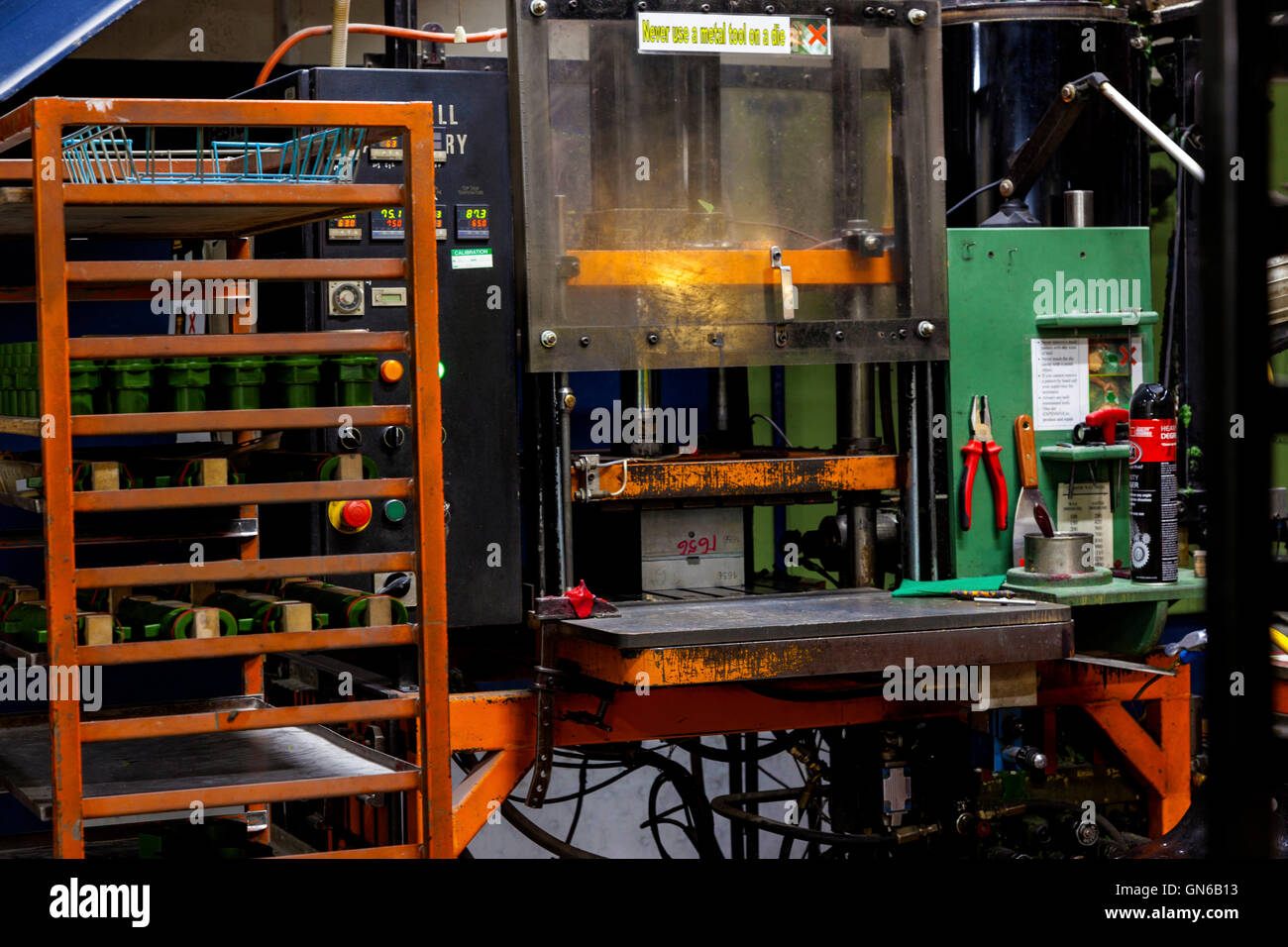 heavy industry injection molding machine - Stock Image
