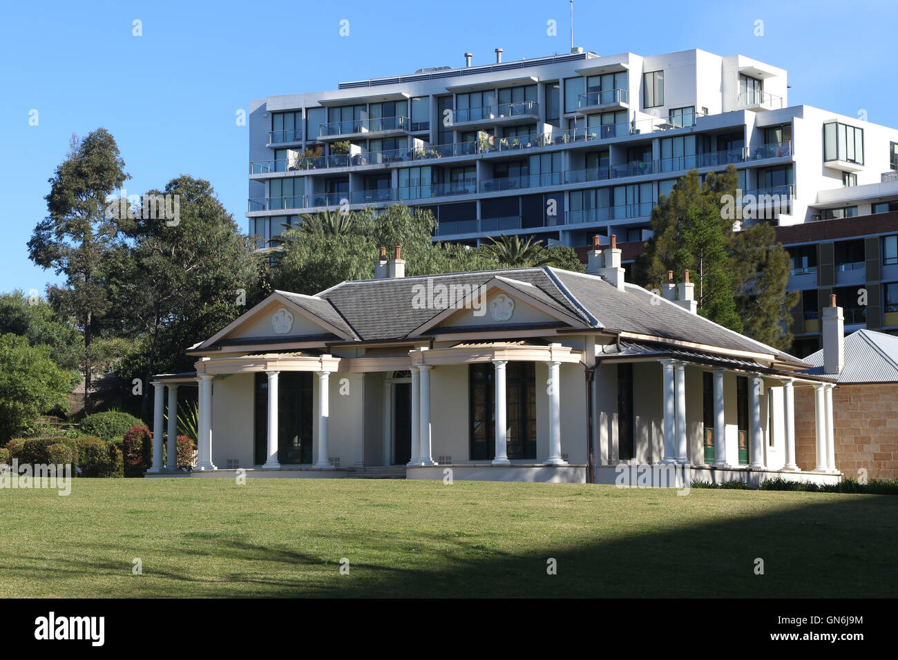 Tempe House in Discovery Park at Discovery Point, Wolli Creek Sydney, Australia. - Stock Image
