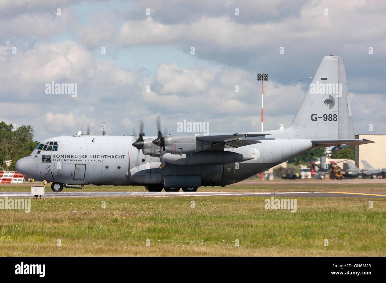 Royal Netherlands Air Force (Koninklijke Luchtmacht) (RNLAF) Lockheed C-130H Hercules military transport aircraft - Stock Image