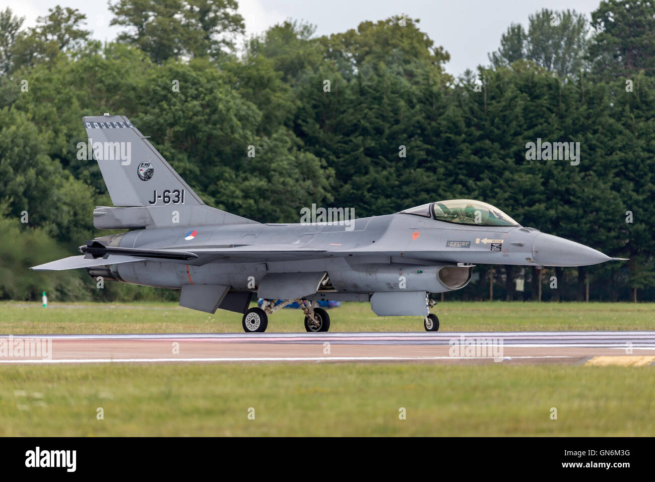 Royal Netherlands Air Force (Koninklijke Luchtmacht) General Dynamics F-16AM Fighter Aircraft. Stock Photo