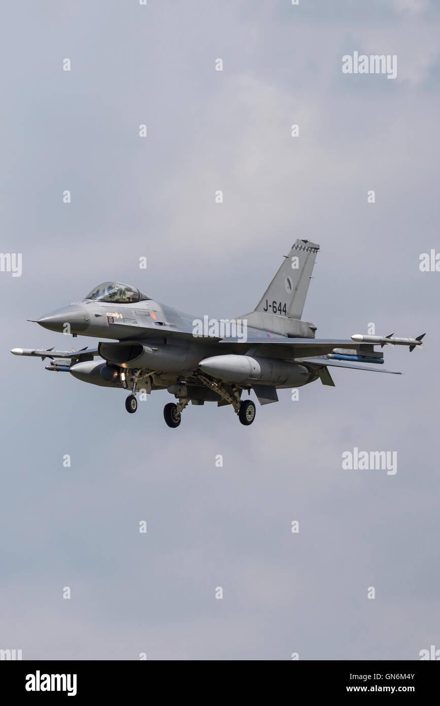 Royal Netherlands Air Force (Koninklijke Luchtmacht) General Dynamics F-16AM Fighter Aircraft. - Stock Image