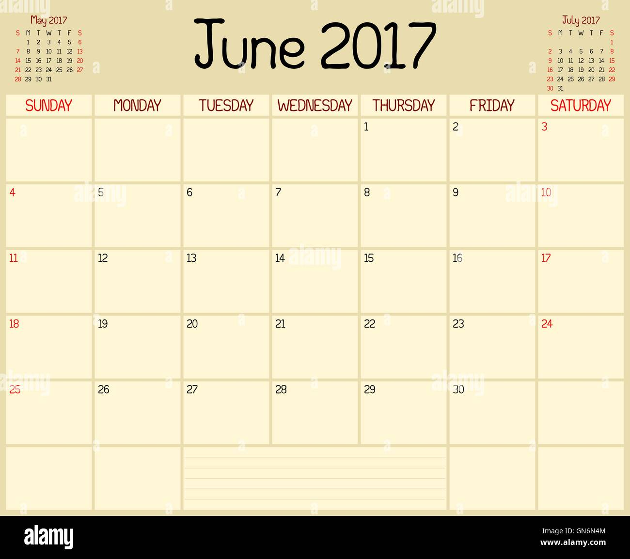 Daily Features Thursday June 8 2017: Organizer Plans Daily Stock Photos & Organizer Plans Daily