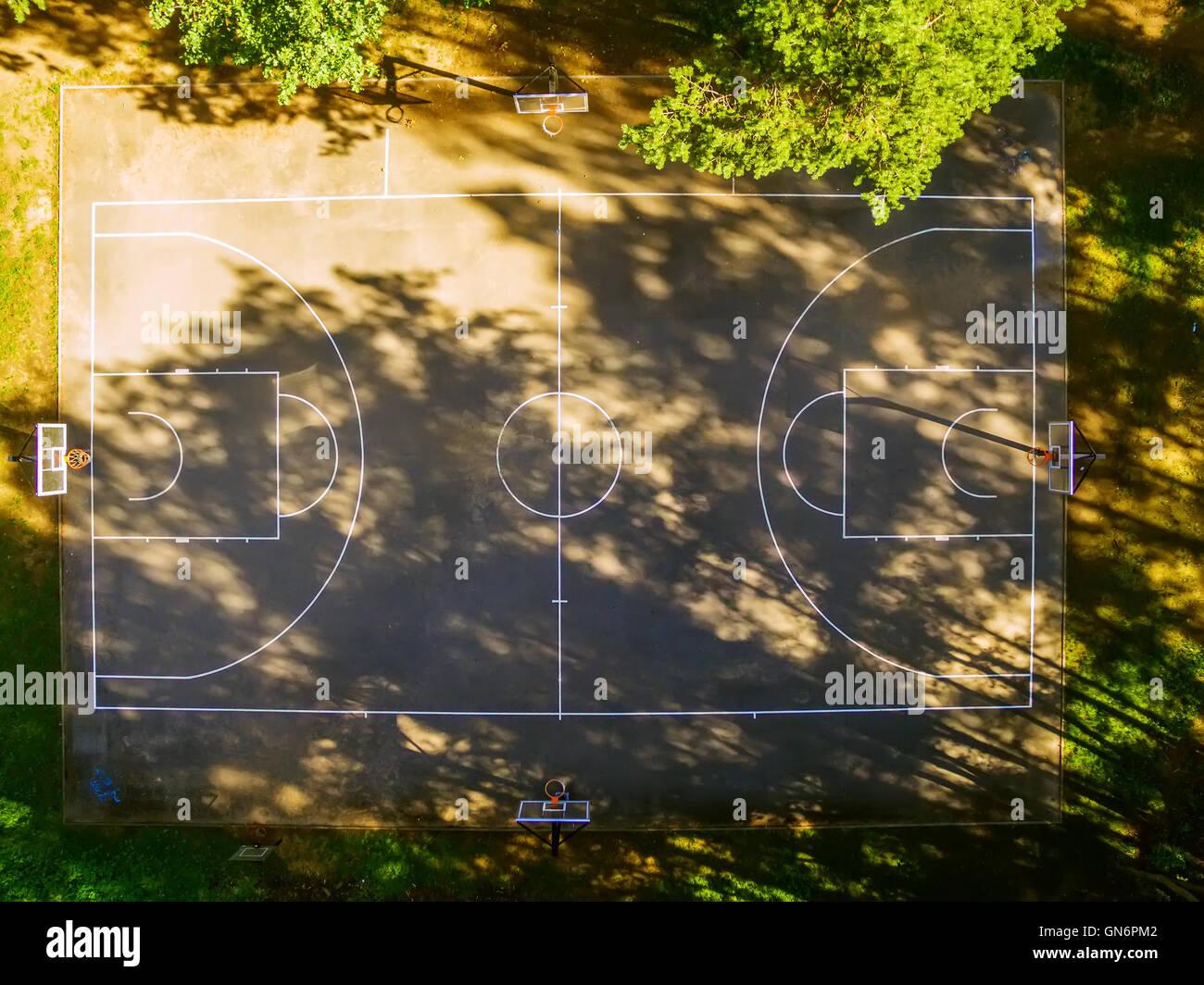 Basketball Court Aerial Stock Photos & Basketball Court ...
