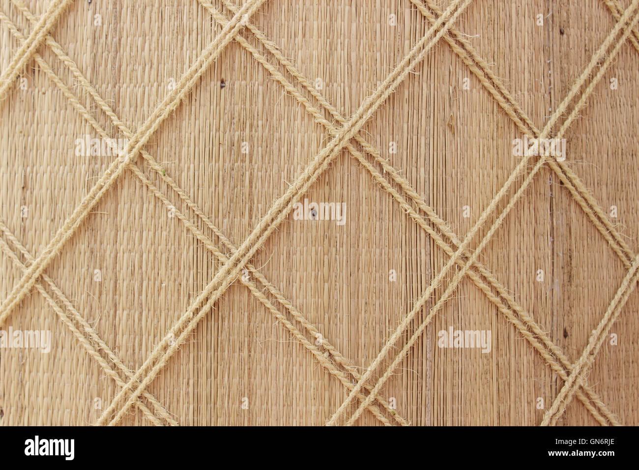 Woven Grass Mat Wall Decor Stock Photos & Woven Grass Mat Wall Decor ...