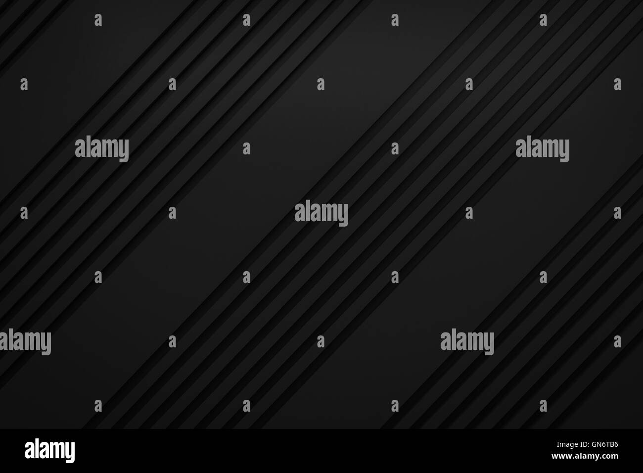 black siding oblique line layout paper material background 3d render - Stock Image