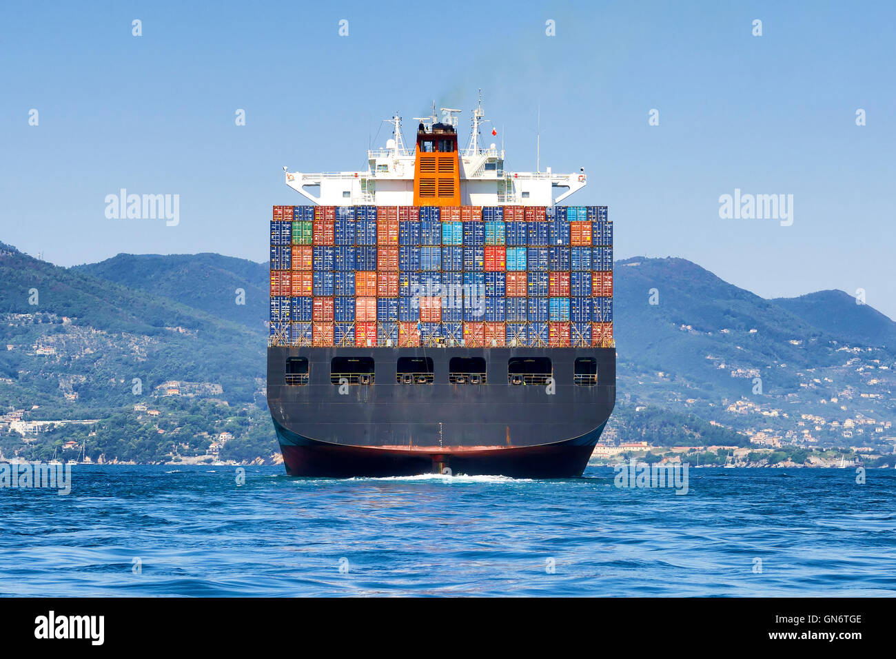 cargo container ship - Stock Image