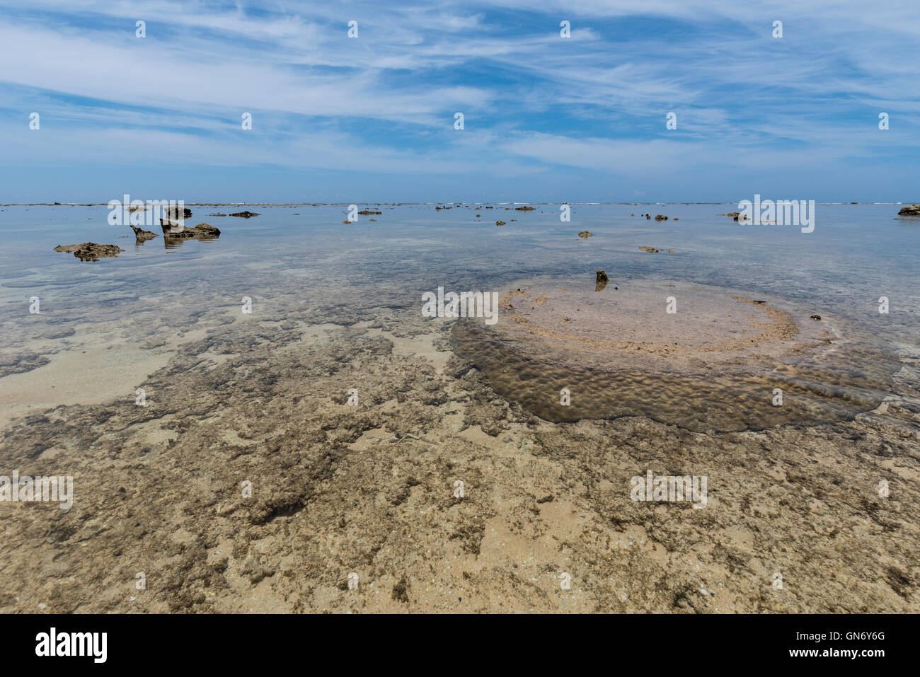 Sea of Hatoma, Okinawa, Japan - Stock Image