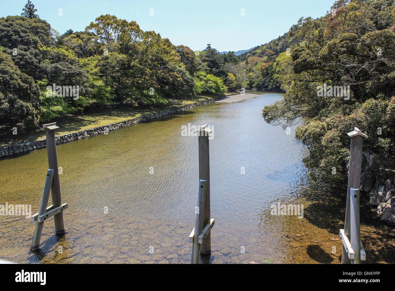Isuzu River, Ise, Japan - Stock Image
