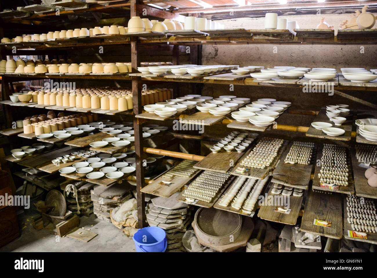 Varieties of Pottery, Kanazawa, Japan - Stock Image