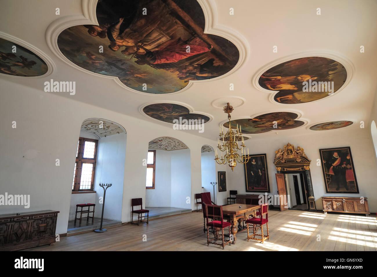 Interior of Kronborg Castle, Helsingor, Denmark - Stock Image