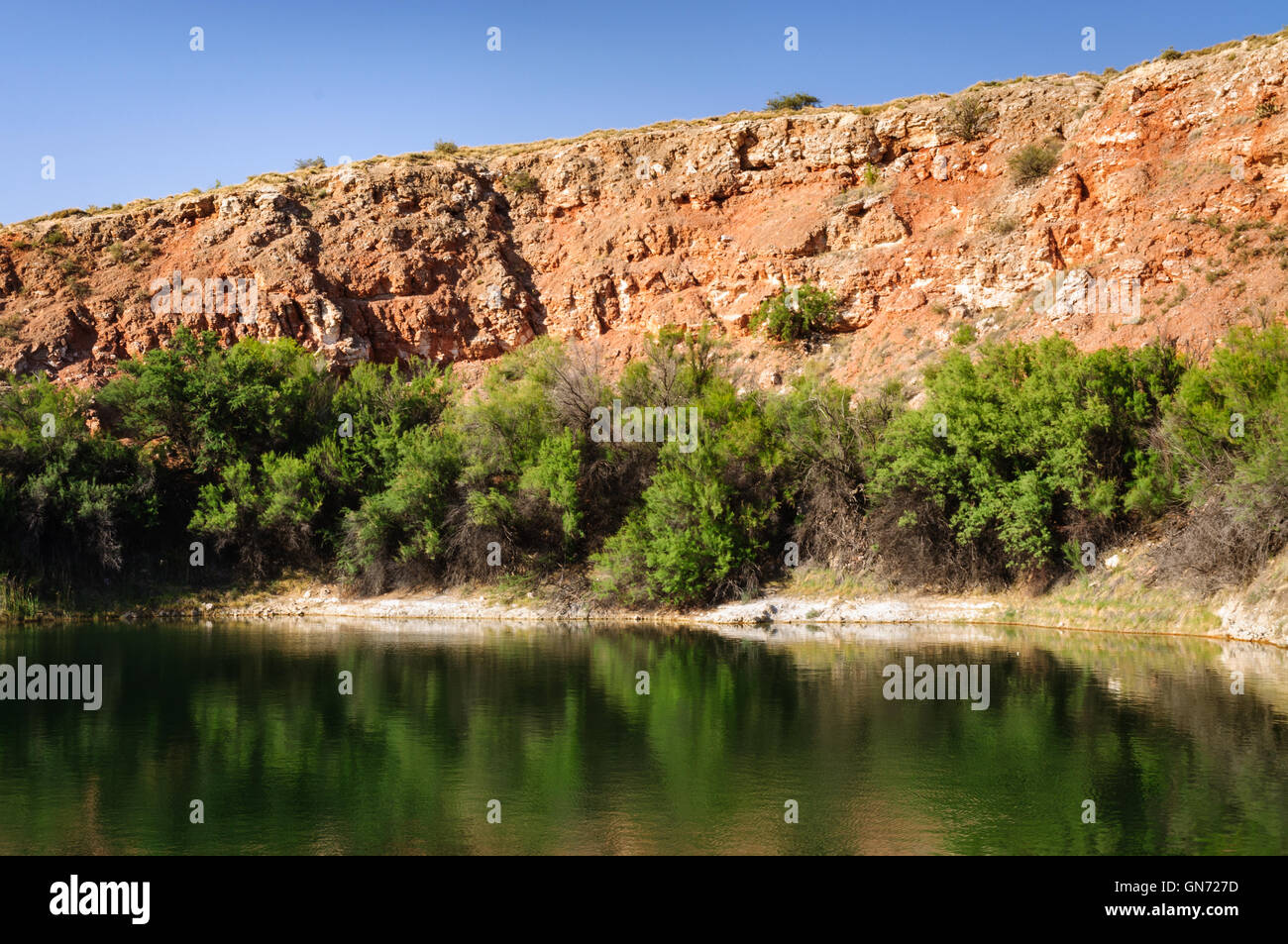 Bottomless Lakes State Park - Stock Image