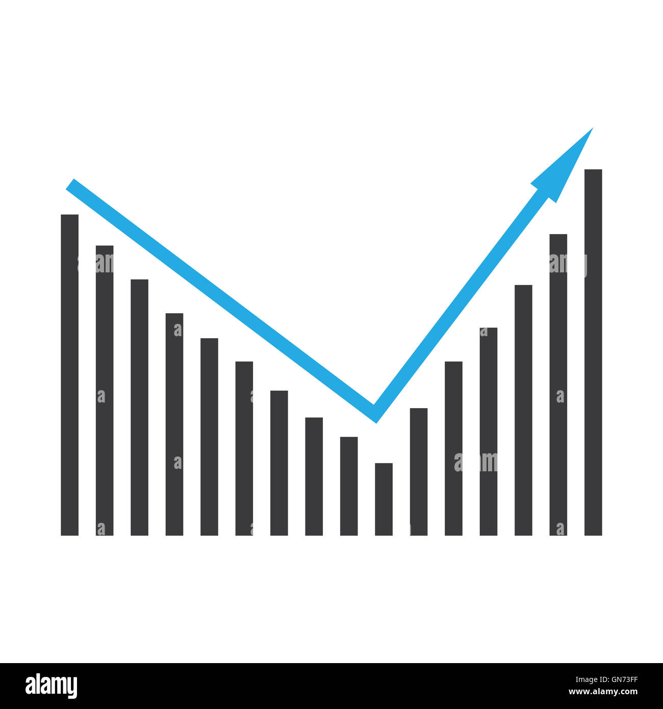Pictorial diagram of ascending bar graph Stock Photo: 116326435 - Alamy