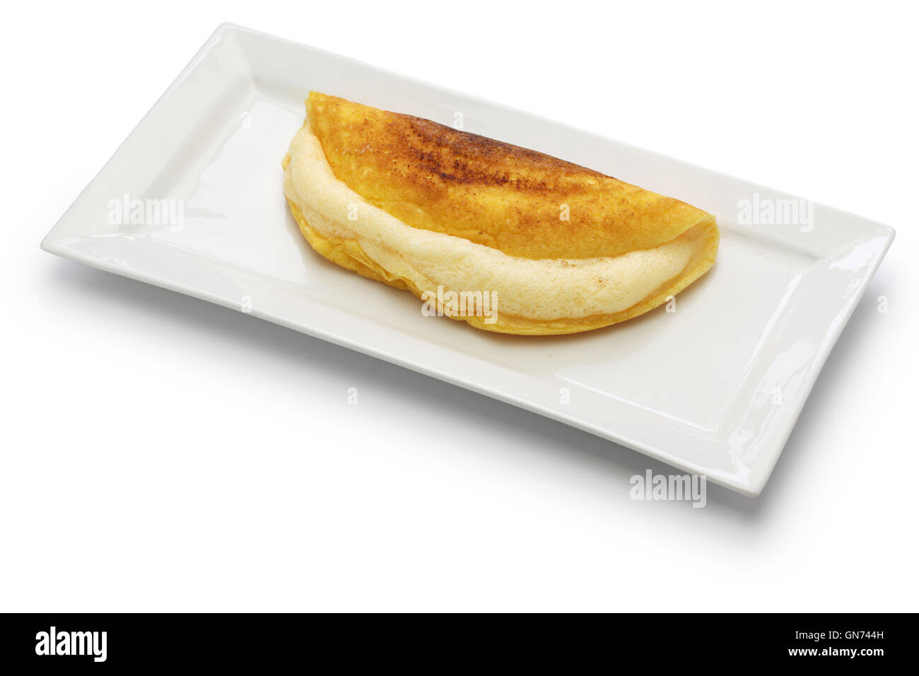 homemade mont saint michel style fluffy souffle omelet - Stock Image