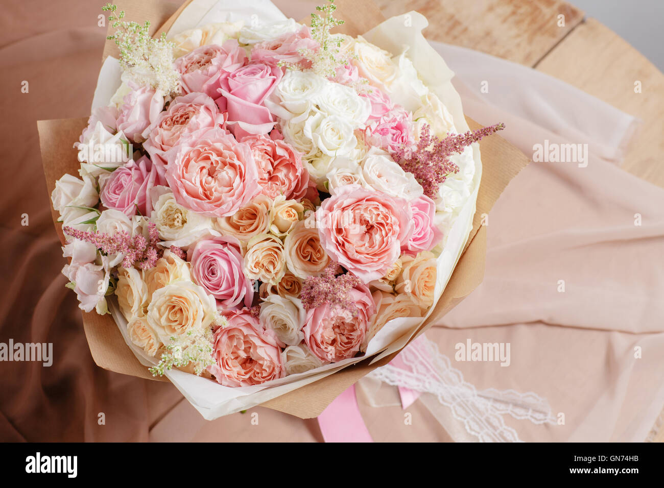 Country Flowers Wedding Bouquet Stock Photos Country Flowers