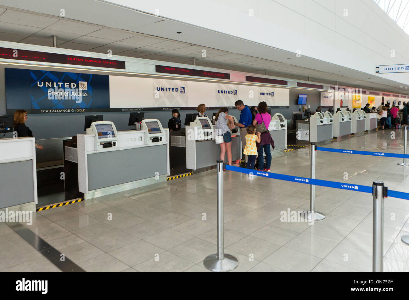 United Airlines Ticket Counter At Bwi International