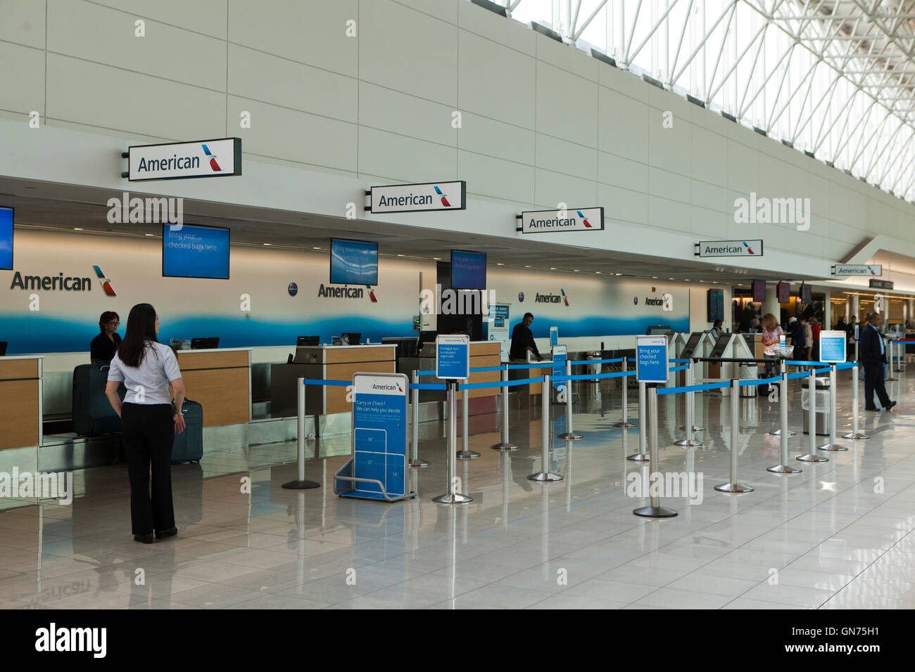 American Airlines Ticket Counter At Bwi International