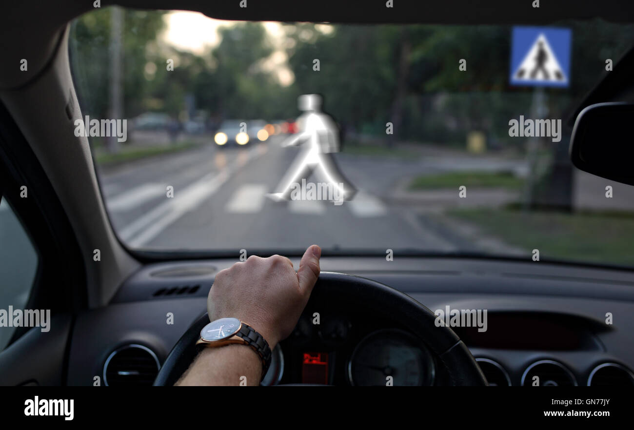 Pedestrian crossing - Stock Image
