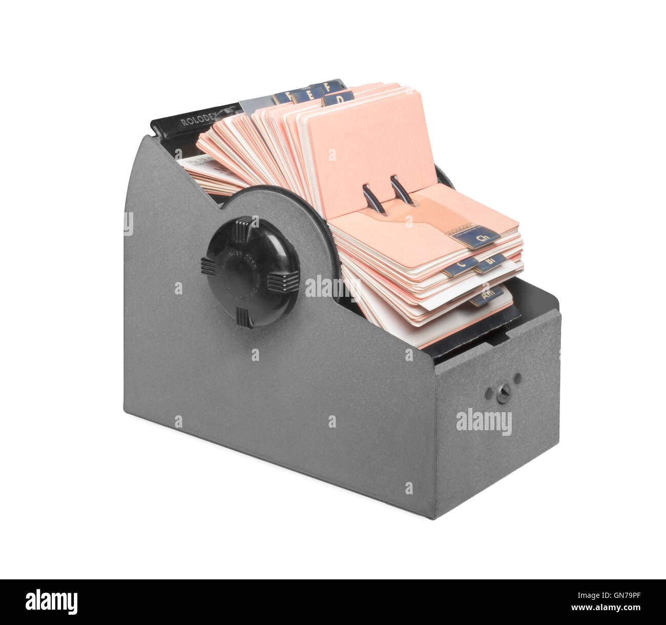Mid-century Rolodex file open front right - Stock Image