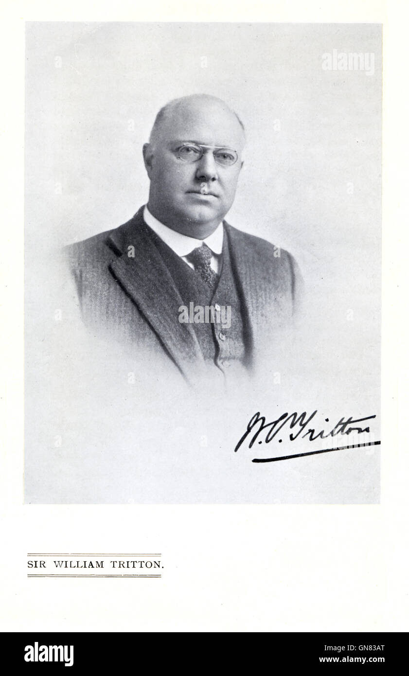 Sir William Tritton, Chairman of William Foster & Co, the Lincoln manufacturer of the first tanks used in the - Stock Image