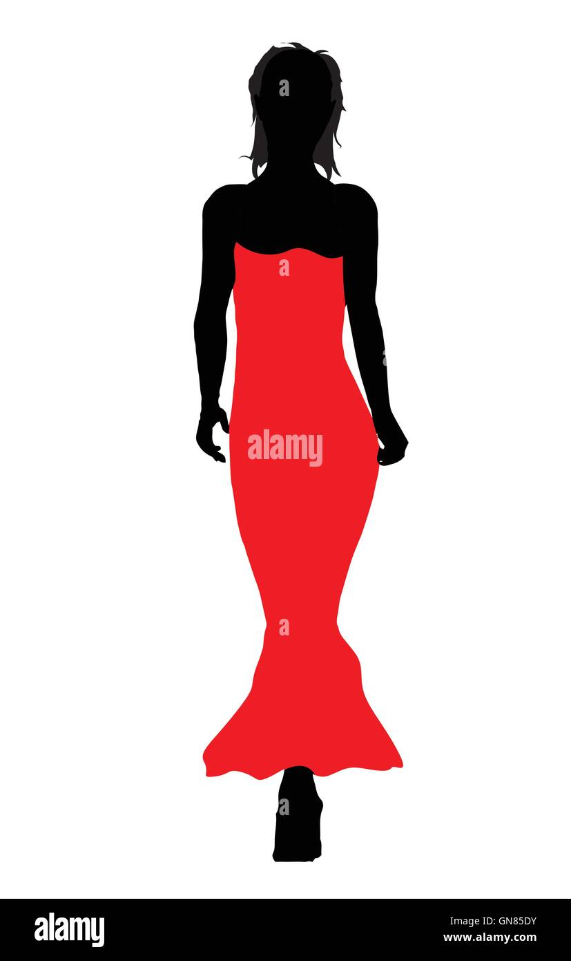 Ball Gown Fashion Stock Vector