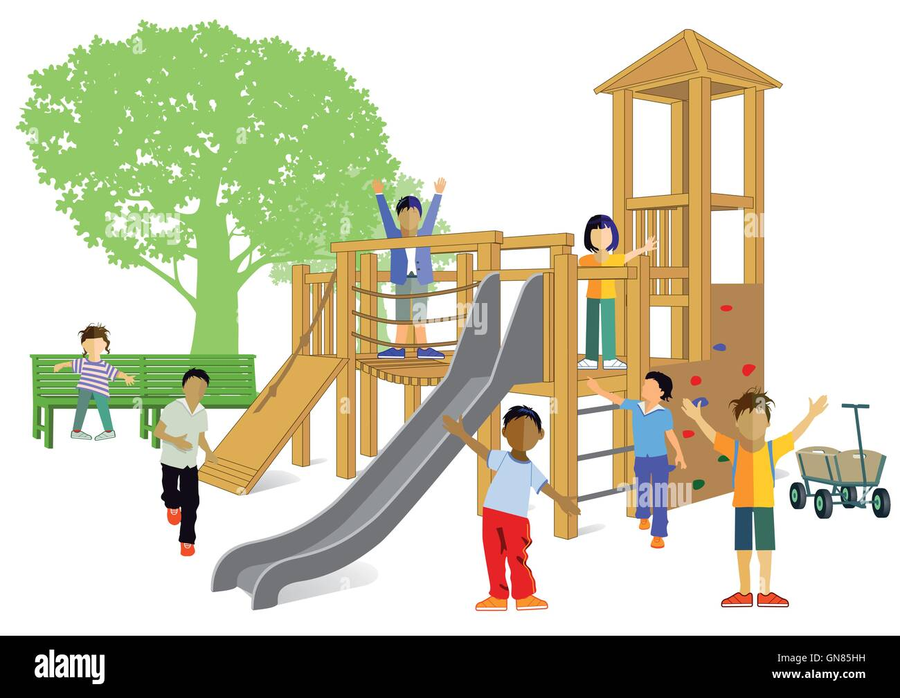 Children's playground - Stock Image