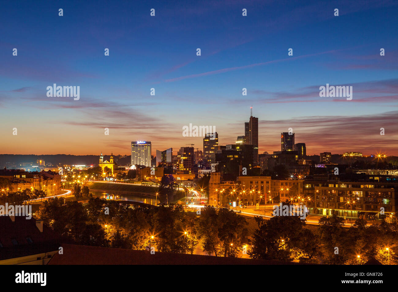 Lithuania Vilnius Traffic Stock Photos & Lithuania Vilnius Traffic ...