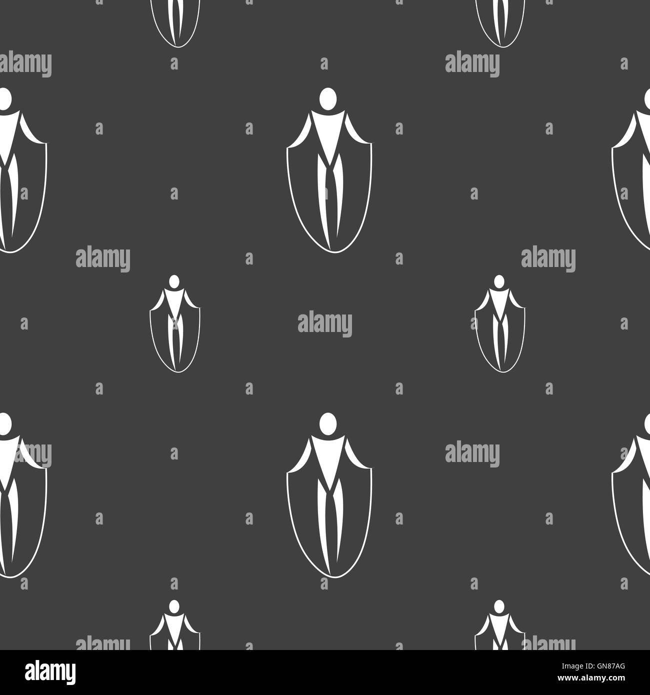 jump rope icon sign. Seamless pattern on a gray background. Vector - Stock Vector