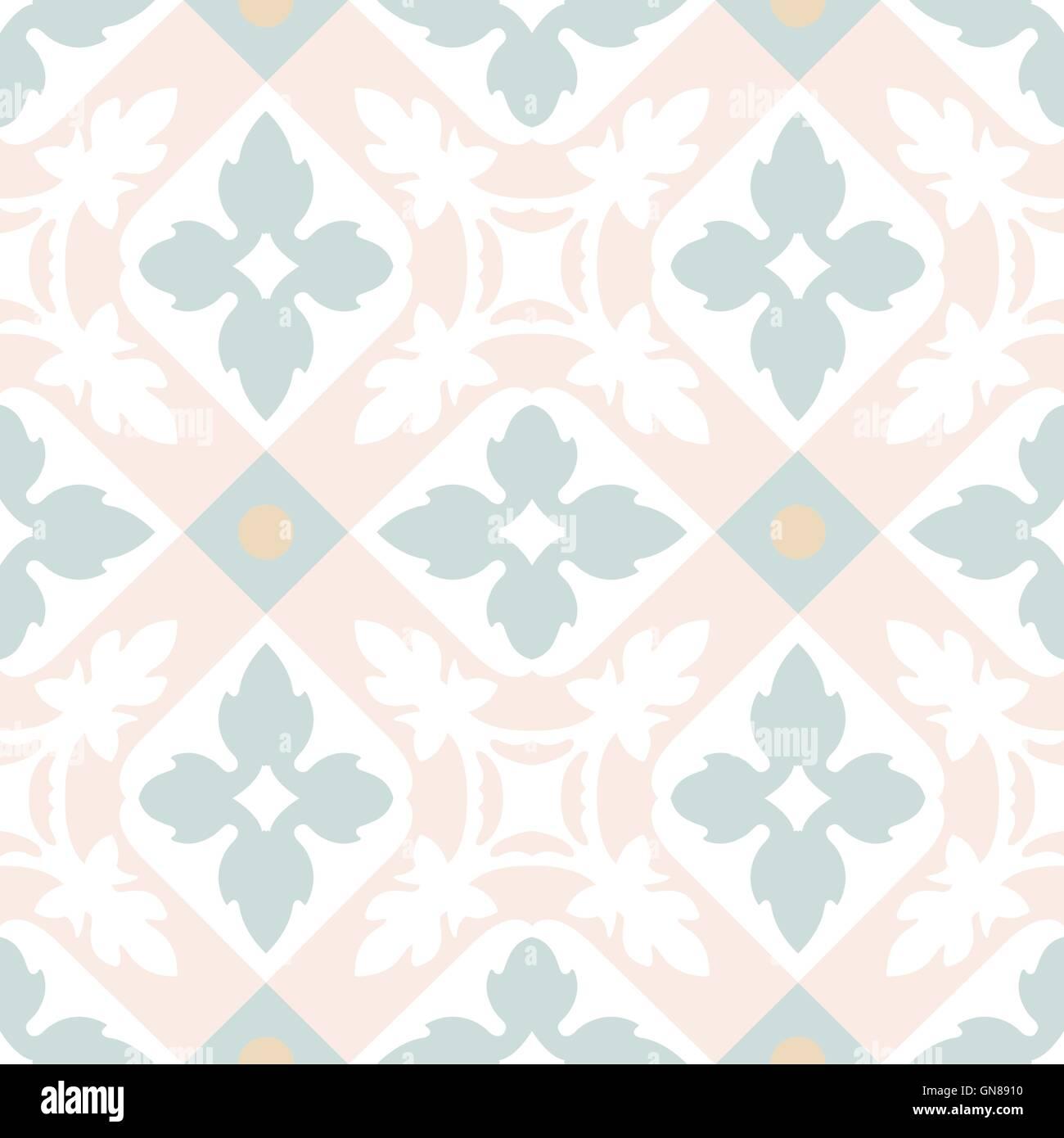 Portuguese tiles seamless pattern. Vintage background ...