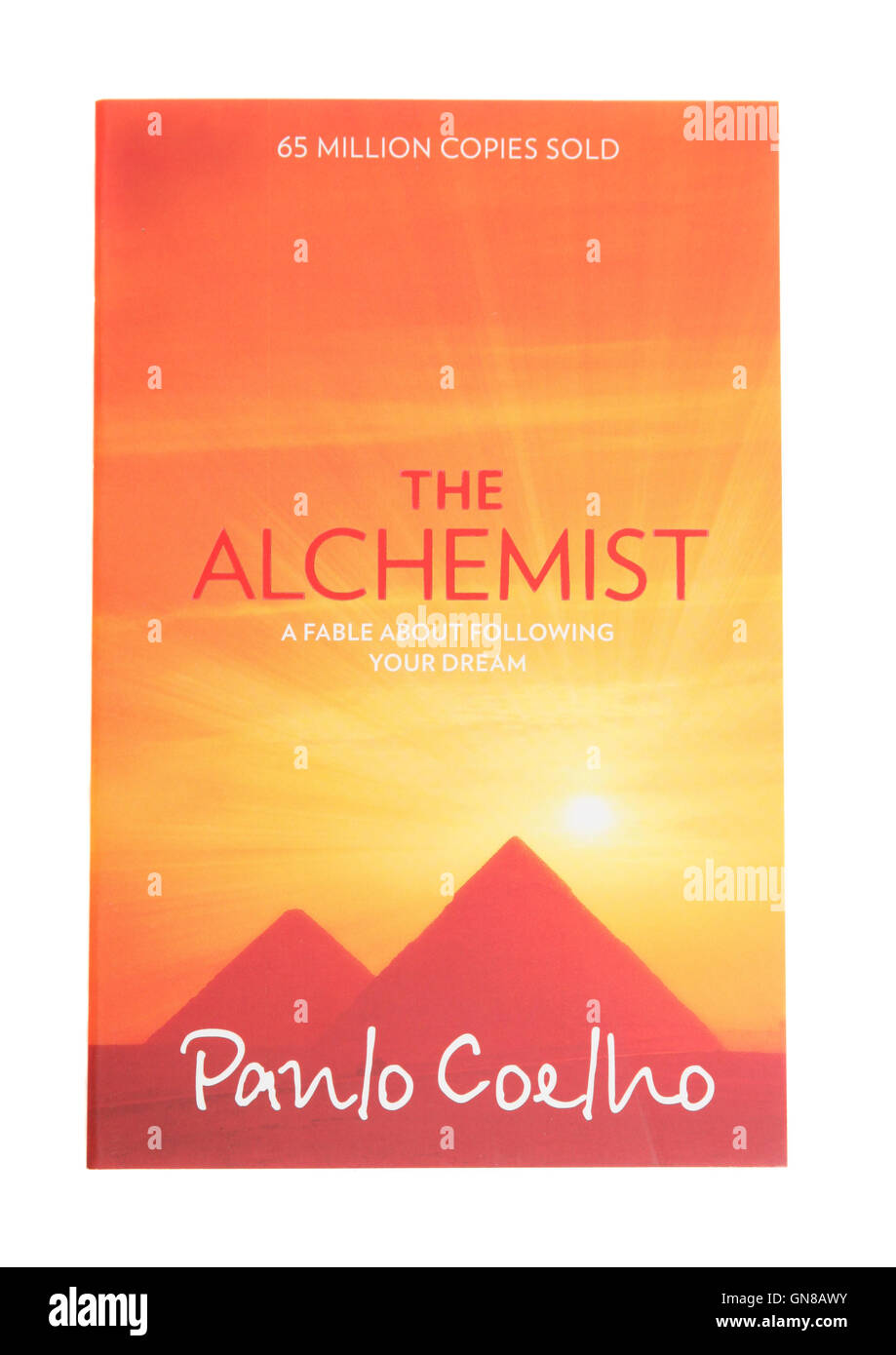 The book The Alchemist by Paulo Coelho - Stock Image