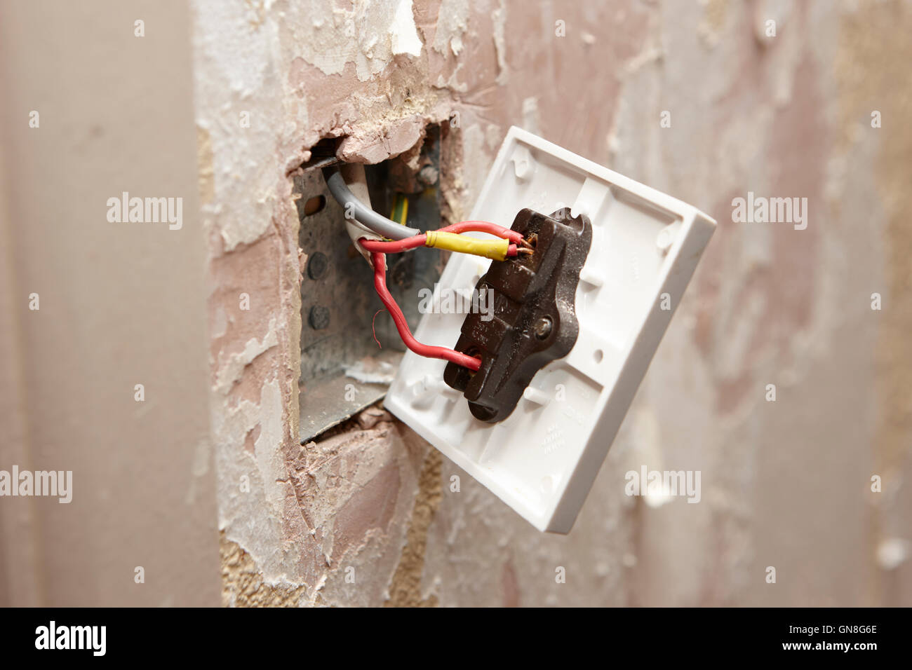 Fine Bare Wiring On Back Of Light Switch In House Being Redecorated In Wiring Digital Resources Remcakbiperorg