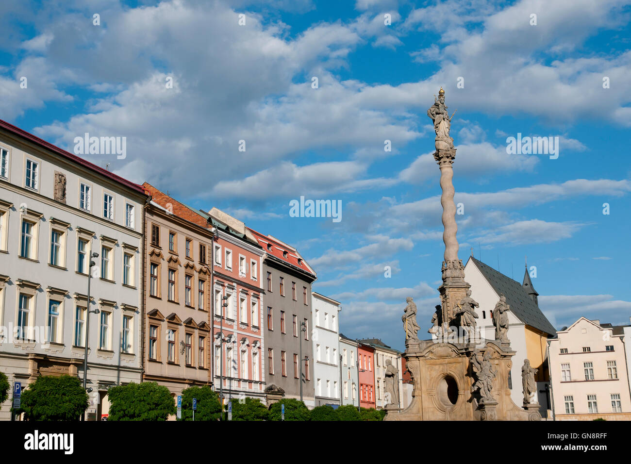 Marian Column - Olomouc - Czech Republic - Stock Image