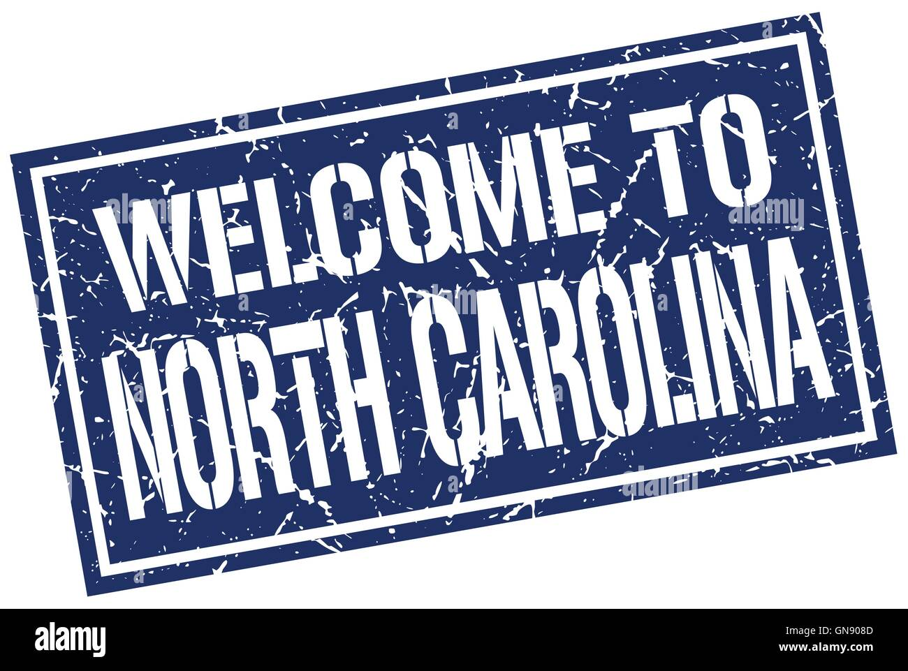 welcome to North Carolina stamp Stock Vector